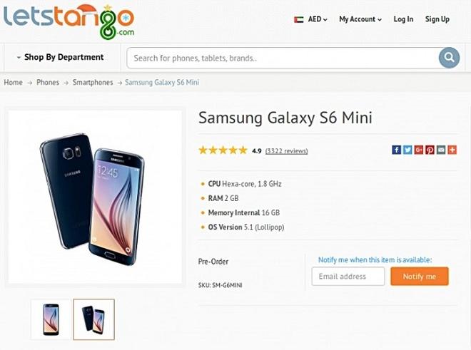 Lo dien Galaxy S6 Mini, man hinh 4,6 inch hinh anh 1