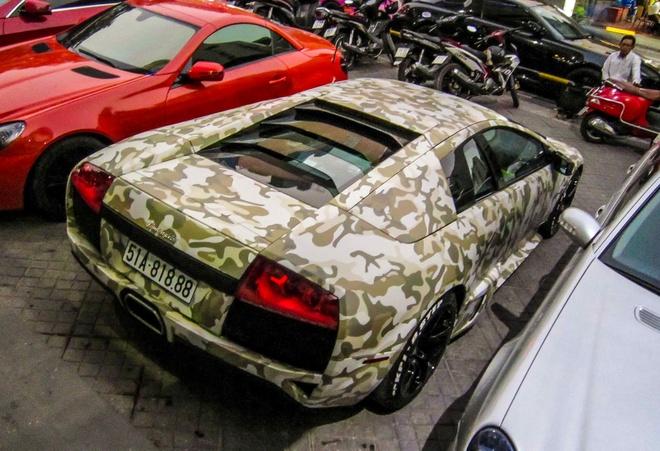 Lamborghini Murcielago LP640 mau camo la mat o Sai Gon hinh anh 5