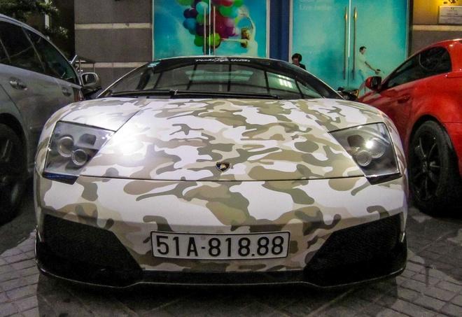 Lamborghini Murcielago LP640 mau camo la mat o Sai Gon hinh anh 1