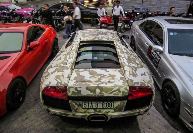 Lamborghini Murcielago LP640 mau camo la mat o Sai Gon hinh anh 3
