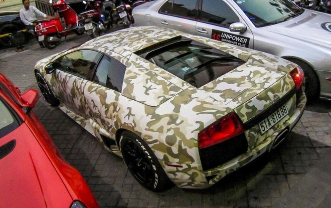 Lamborghini Murcielago LP640 mau camo la mat o Sai Gon hinh anh 4