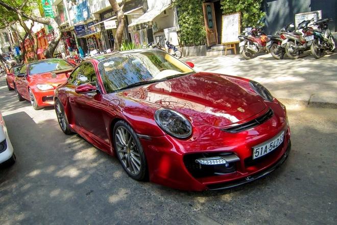 Sieu xe Porsche 911 do Techart mau do o Sai Gon hinh anh 1