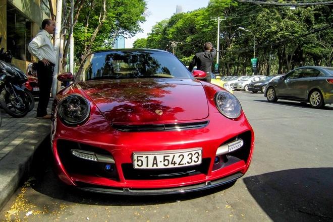 Sieu xe Porsche 911 do Techart mau do o Sai Gon hinh anh 2