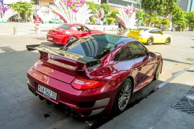 Sieu xe Porsche 911 do Techart mau do o Sai Gon hinh anh 3