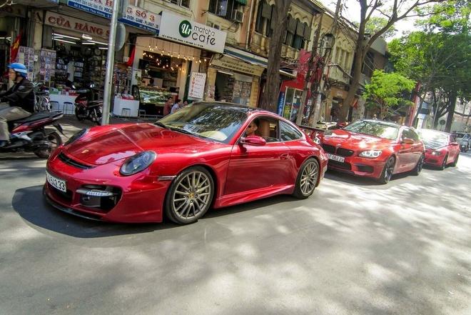 Sieu xe Porsche 911 do Techart mau do o Sai Gon hinh anh