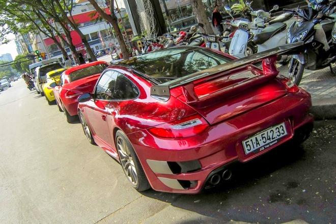 Sieu xe Porsche 911 do Techart mau do o Sai Gon hinh anh 8