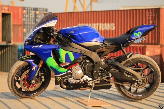 Sieu moto Yamaha R1 do Movistar o Sai Gon hinh anh 1