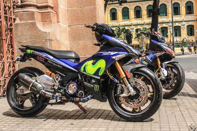 Yamaha 135 do kieu 150 phan khoi cua biker Sai Gon hinh anh