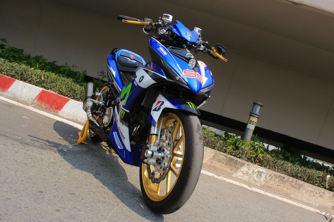 Exciter do phong cach xe dua M1 cua biker Sai Gon hinh anh 4