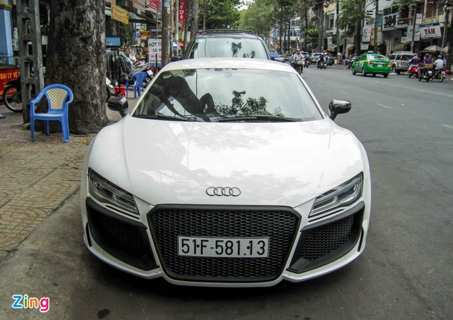 Audi R8 V10 tai Sai Gon do goi than vo den tu Duc hinh anh 2