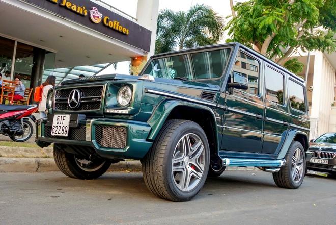 'Vua dia hinh' Mercedes G63 mau la o Sai Gon hinh anh