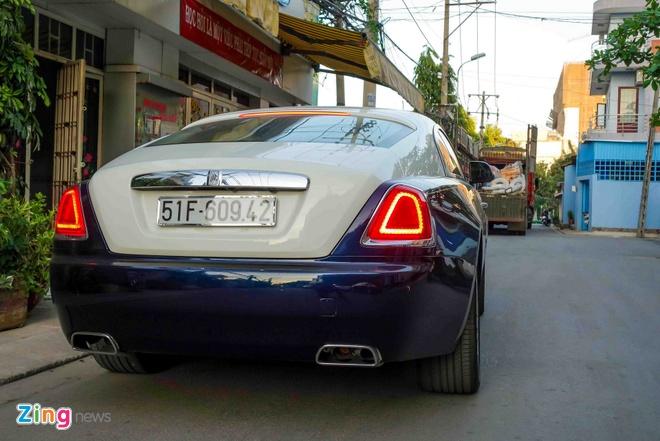 Rolls-Royce Wraith chinh hang dau tien ra bien so TP HCM hinh anh 8