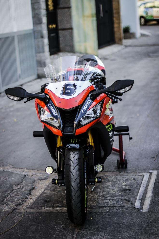 Kawasaki ZX10R son tem va do do choi cua biker Dong Nai hinh anh 2