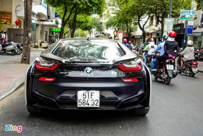 BMW i8 mau la cua dai gia ca phe o Sai Gon hinh anh 3