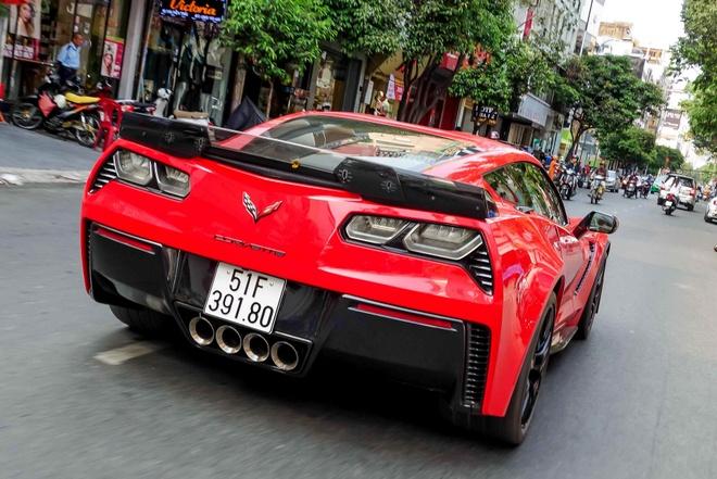 Sieu xe Corvette Z06 ra bien so o TP HCM hinh anh