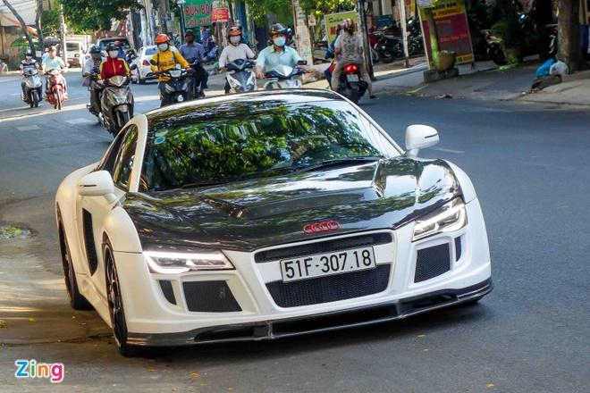 Sieu xe Audi R8 do po Capristo xuat hien tren pho Sai Gon hinh anh 1