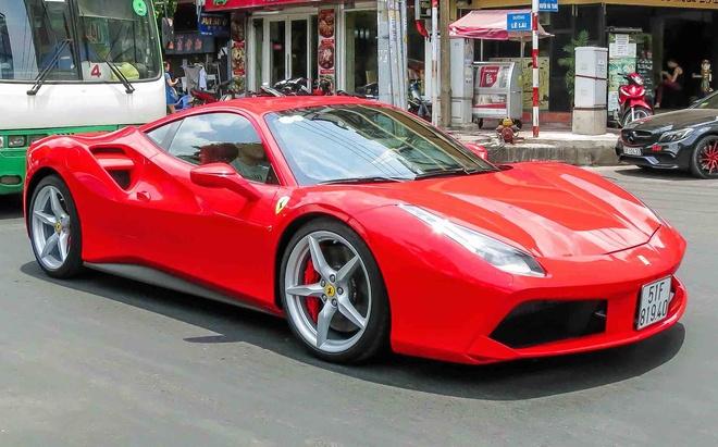 Sieu xe Ferrari 488 GTB mau do thu 2 tren 14 ty o Sai Gon hinh anh