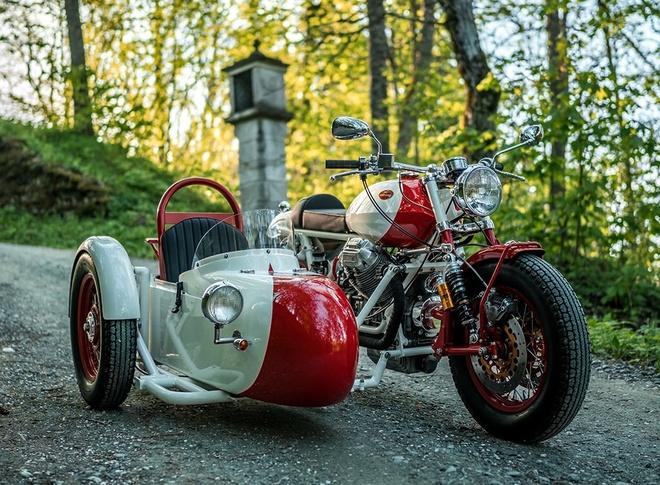 Do Moto Guzzi 40 nam tuoi thanh sidecar hinh anh