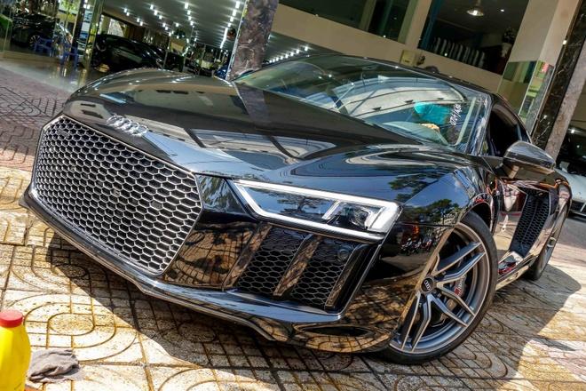 Sieu xe Audi R8 V10 Plus thu 2 manh 601 ma luc ve Viet Nam hinh anh
