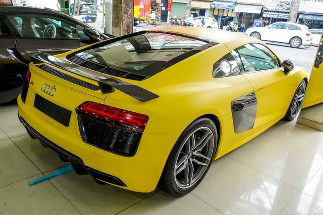 Sieu xe Audi R8 V10 Plus vang nham duy nhat Viet Nam hinh anh