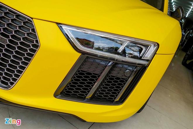 Sieu xe Audi R8 V10 Plus vang nham duy nhat Viet Nam hinh anh 10