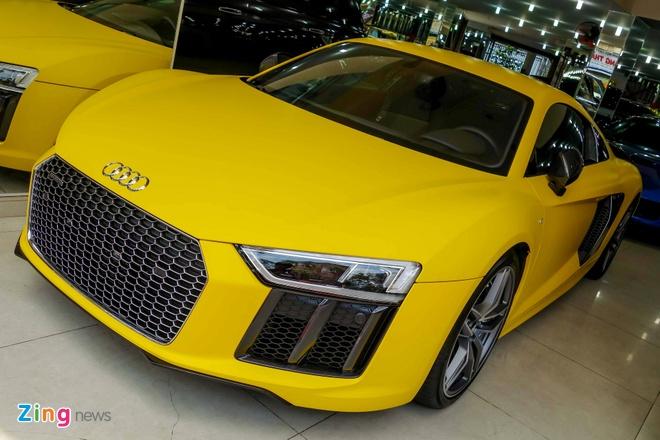 Sieu xe Audi R8 V10 Plus vang nham duy nhat Viet Nam hinh anh 2