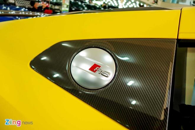 Sieu xe Audi R8 V10 Plus vang nham duy nhat Viet Nam hinh anh 8