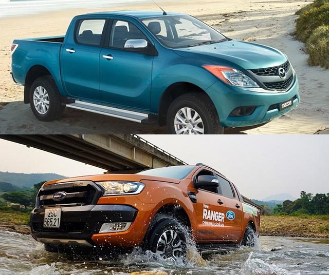 Mazda BT-50 va Ford Ranger: Mau ban tai nao dang chon? hinh anh