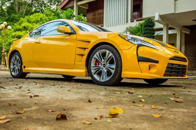 Hyundai Genesis do phong cach Aston Martin One 77 o Dak Lak hinh anh 1