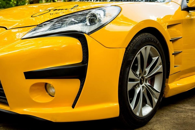 Hyundai Genesis do phong cach Aston Martin One 77 o Dak Lak hinh anh 5