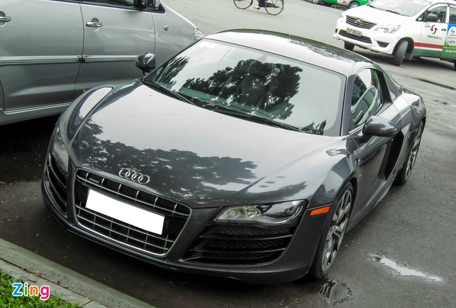 Sieu xe Audi R8 V10 mau la o Sai Gon hinh anh 1