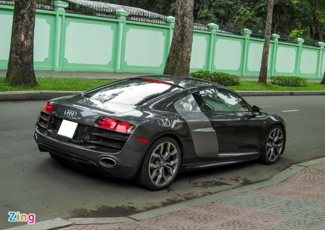 Sieu xe Audi R8 V10 mau la o Sai Gon hinh anh 8