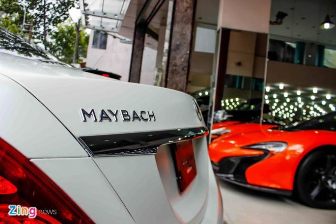 Xe sieu sang Maybach S600 trang mo do mam o Sai Gon hinh anh 7