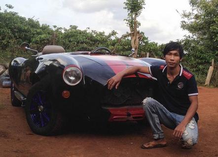 Thanh nien Dak Nong tu che xe the thao hinh anh