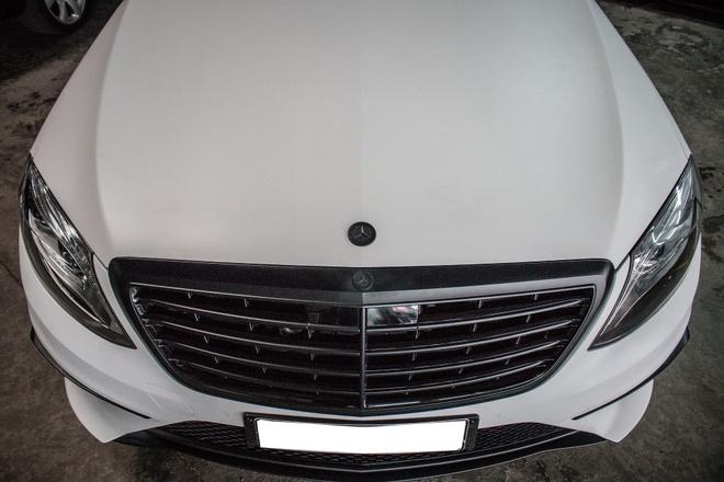 Mercedes S500 dan decal don gian tai Sai Gon hinh anh 6