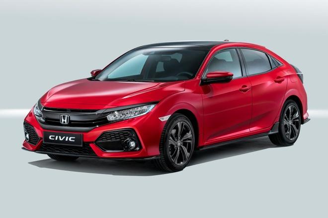 Honda Civic hatchback 2017 lo dien hinh anh