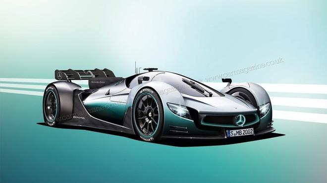 Mercedes sap gioi thieu xe dua F1 chay tren pho hinh anh