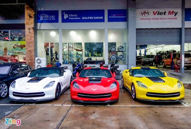 Ba xe the thao Corvette Stingray tai TP.HCM hinh anh 1