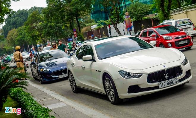 Dan xe sang Maserati xuat hien o trung tam Sai Gon hinh anh 11