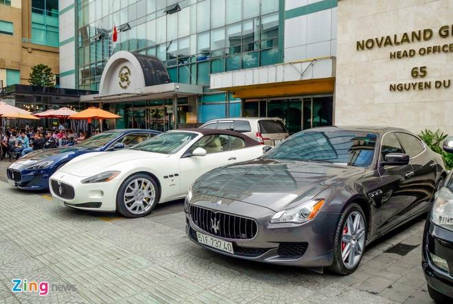 Dan xe sang Maserati xuat hien o trung tam Sai Gon hinh anh 1