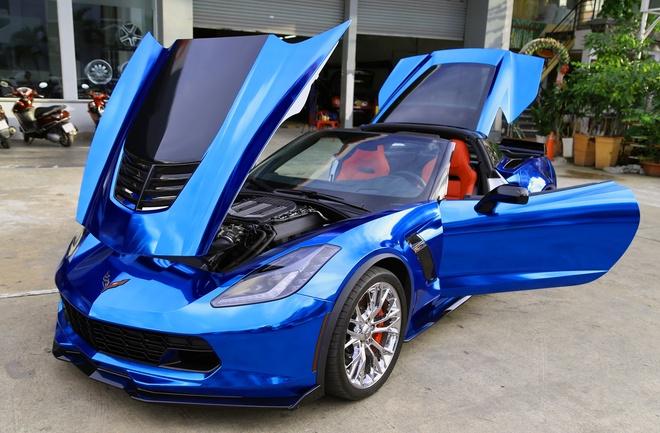 Doi mau sieu xe Chevrolet Corvette Z06 o Sai Gon hinh anh