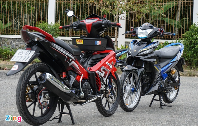 Exciter 135 do cua biker mien Tay anh 1