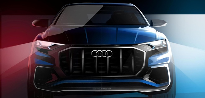 Audi Q8 E-tron lo hinh anh dau tien hinh anh