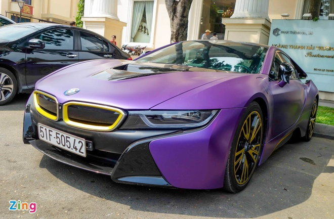 BMW i8 do decal anh 1