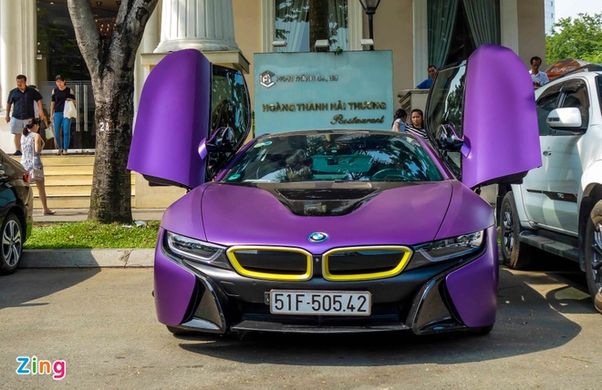 BMW i8 do decal anh 2