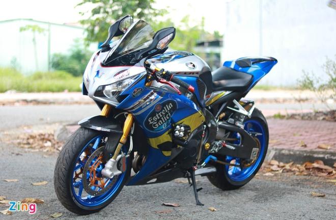 Honda CBR do cua biker Vinh Long anh 1