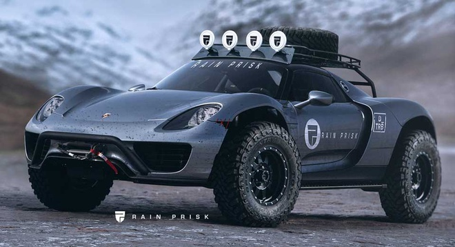 Porsche 918 Spyder bien thanh sieu xe off-road hinh anh