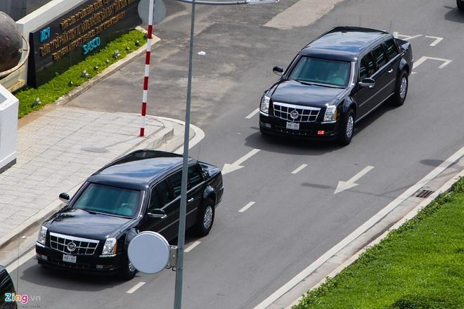 Limousine boc thep cua Tong thong Donald Trump anh 3