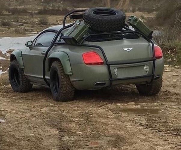 sieu xe Bentley Continental GT offroad anh 1