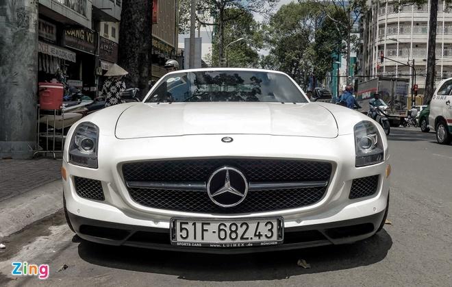 Mercedes SLS cua dai gia Trung Nguyen anh 1